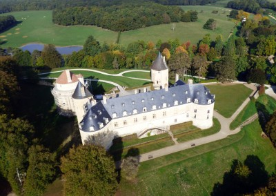 Château vu du ciel